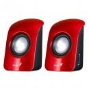 Genius SP-U115, reproduktory, 3W, ovládání hlasitosti, červeno-černá, stolní, USB,3.5mm konektor200Hz-18kHz