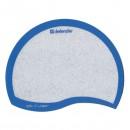 Podložka pod myš, PVC+PU, bílo-modrá, 21.5x16.5cm, 1.2mm, Defender, zrcadlové mikročástice