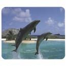 Podložka pod myš, delfíni ve skoku, 22x18, 1mm, LOGO