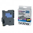 Brother originální páska do tiskárny štítků, Brother, TX-621, černý tisk/žlutý podklad, laminovaná, 8m, 9mm