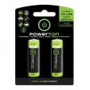 Baterie Ni-MH, AA nabíjecí, 1.2V, 2500mAh, Powerton, blistr, 2-pack, cena za 1 ks