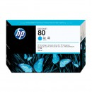 HP originální ink C4846A, No.80, cyan, 350ml, HP DesignJet 1050, C, 1055, C, CM