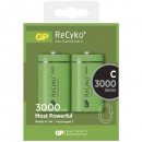 Baterie Ni-MH, HR14 (C) nabíjecí, 1.2V, 3000 mAh, GP, plastová krabička, 2-pack, cena za 1 ks