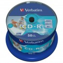 Verbatim 43438, DataLife PLUS, 50-pack, 700 Azo, 52x, 80min., CD-R, 12cm, Inkjet, Wide Printable, cake box, Standard, pro archivac