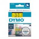 Dymo originální páska do tiskárny štítků, Dymo, 53718, S0720980, černý tisk/žlutý podklad, 7m, 24mm, D1