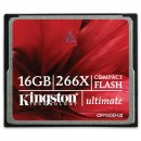Kingston Compact Flash Card Ultimate, 16GB, CF/16GB-U2, 266x, High Speed, pro archivaci dat