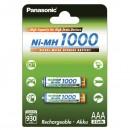 Přednabité baterie, AAA, 1.2V, 1000 mAh, Panasonic, blistr, 2-pack, cena za 1 ks