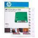 HP Ultrium LTO 4 RW Štítky s čárovým kódem, GB GB, Q2009A, sada štítků s čárovými kódy