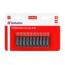 Baterie alkalická, AAA, 1.5V, Verbatim, blistr, 10-pack, 49874, cena za 1 ks baterie