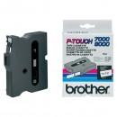 Brother originální páska do tiskárny štítků, Brother, TX-231, černý tisk/bílý podklad, laminovaná, 8m, 12mm