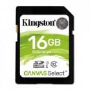 Kingston paměťová karta Canvas Select, 16GB, SDHC, SDS/16GB, UHS-I U1 (Class 10)