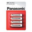 Baterie zinkouhlíková, AA, 1.5V, Panasonic, blistr, 4-pack, cena za 1 ks baterie