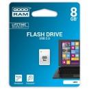 Goodram USB flash disk, 2.0, 8GB, UPI2, bílý, UPI2-0080W0R11