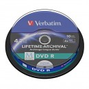 Verbatim DVD-R, M-Disc, 10-pack, 4.7GB, 4x, 12cm, General, Standard, cake box, pro archivaci dat