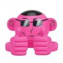 Promate Bluetooth reproduktor Ape, Li-Ion, 1.0, 3W, růžový, ,pro děti, držák telefonu