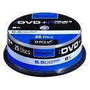 Intenso DVD+R, 4311144, 25-pack, 8,5GB, 8, 12cm, Standard, cake box