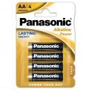 Baterie alkalická, AA, 1.5V, Panasonic, blistr, 4-pack, Bronze, cena za 1 ks baterie
