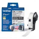 Brother papírové štítky 17mm x 87mm, bílá, 300 ks, DK11203, pro tiskárny řady QL