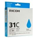 Ricoh originální ink 405689, cyan, typ GC 31C, Ricoh GXe2600/GXe3000N/GXe3300N/GXe3350N