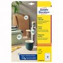 Avery Zweckform etikety 60mm, A4, bílé, 12 etiket, snímatelné, baleno po 25 ks, L7104REV-25, pro laserové a inkoustové tiskárny, k