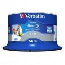 Verbatim BD-R SL, Hard Coat protective layer Wide Inkjet Printable, 25GB, Spindle, 43812, 6x, 50-pack, pro archivaci dat