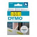 Dymo originální páska do tiskárny štítků, Dymo, 45018, S0720580, černý tisk/žlutý podklad, 7m, 12mm, D1