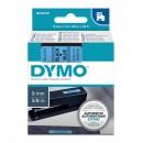 Dymo originální páska do tiskárny štítků, Dymo, 40916, S0720710, černý tisk/modrý podklad, 7m, 9mm, D1
