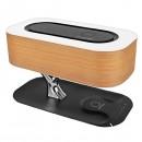 Promate Bluetooth reproduktor Bonsai-Qi, 1.0, 5W, hnědý, regulace hlasitosti, s bezdrátovým nabíjením, s noční LED svítilnou