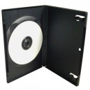 Box na 1 ks DVD, černý, No Name, 14mm, cena za 1ks, baleno po 100ks