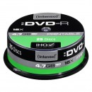Intenso DVD-R, 4801154, 25-pack, 4.7GB, 16x, 12cm, Standard, cake box, Printable