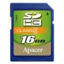 Apacer paměťová karta Secure Digital, 16GB, SDHC, AP16GSDHC4-R, Class 4
