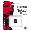 Kingston Micro SDHC Card, Class 10 UHS-I Card, 16GB, micro SDHC UHS-I, SDC10G2/16GBSP, Ultra high speed Class 10, pro archivaci da