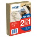"Epson Premium Glossy Photo Paper, foto papír, lesklý, bílý, 10x15cm, 4x6"", 255 g/m2, 2x40 ks, C13S042167, inkoustový,promo 1+1 zda"