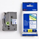 Brother originální páska do tiskárny štítků, Brother, TZE-133, modrý tisk/průsvitný podklad, laminovaná, 8m, 12mm