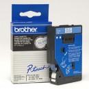 Brother originální páska do tiskárny štítků, Brother, TC-293, modrý tisk/bílý podklad, laminovaná, 7.7m, 9mm