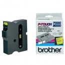 Brother originální páska do tiskárny štítků, Brother, TX-651, černý tisk/žlutý podklad, laminovaná, 8m, 24mm