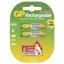 Baterie Ni-MH, AAA nabíjecí, 1.2V, 950 mAh, GP, blistr, 2-pack, cena za 1 ks