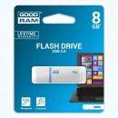 Goodram USB flash disk, 2.0, 8GB, UMO2, bílý, UMO2-0080W0R11