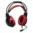 Redragon, Lester herní sluchátka s mikrofonem, ovládání hlasitosti, červeno-černá, 2x 3.5 mm jack + USB