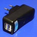 USB nabíječka, 220V (el.síť), 5V, 2000mA, nabíjení mobilních telefonů a GPS, No Name