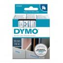 Dymo originální páska do tiskárny štítků, Dymo, 45014, S0720540, modrý tisk/bílý podklad, 7m, 12mm, D1