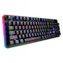 Marvo Klávesnice KG954G, herní, černá, drátová (USB), US, mechanická, červené spínače, RGB podsvícení