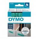 Dymo originální páska do tiskárny štítků, Dymo, 45019, S0720590, černý tisk/zelený podklad, 7m, 12mm, D1