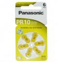 Baterie zinkovzdušná, PR10, PR230L, PR536, 1.4V, Panasonic, blistr, 6-pack, cena za 1 ks baterie, do naslouchadel