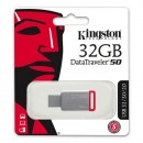 Kingston USB flash disk, 3.0, 32GB, DataTraveler DT50, červený, DT50/32GB