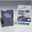 Brother originální páska do tiskárny štítků, Brother, TX-233, modrý tisk/bílý podklad, laminovaná, 8m, 12mm