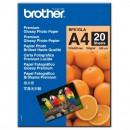Brother Glossy Photo Paper, foto papír, lesklý, bílý, A4, 190 g/m2, 20 ks, BP61GLA, inkoustový