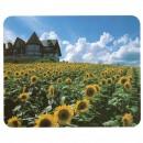 Podložka pod myš, dům ve slunečnicovém poli, 22x18, tenká, LOGO