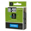 Dymo originální páska do tiskárny štítků, Dymo, 45803, S0720830, černý tisk/bílý podklad, 7m, 19mm, D1