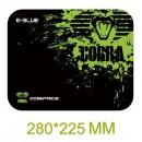 Podložka pod myš, Cobra S, herní, černo-zelená, 28x22.5cm, E-Blue
